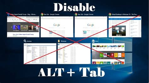 How to Disable Alt Tab to Preview Programs in Windows 10