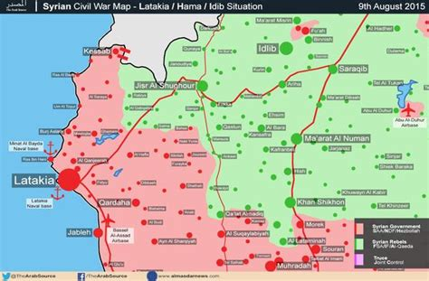 Battle Map Update of Latakia and the Al-Ghaab Plains