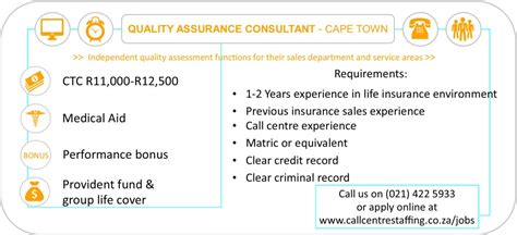 Quality Assurance Consultant   Cape Town - Call Centre