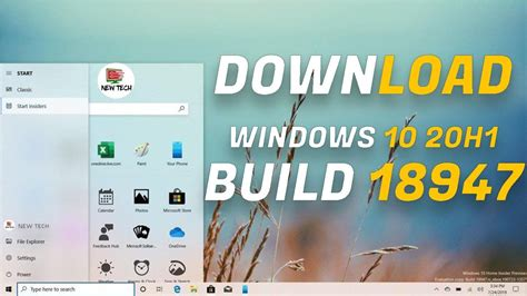 Windows 10 x64 Build 18947 (20H1) ISO Download File Now