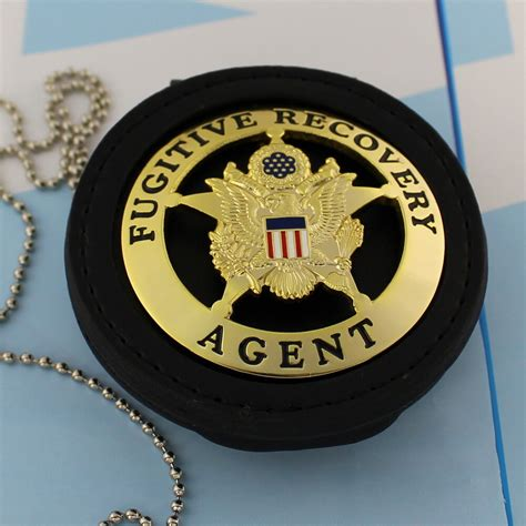Old West Style Fugitive Recovery Metal Agent Badge