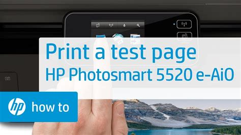 Printing a Test Page - HP Photosmart 5520 e-All-in-One