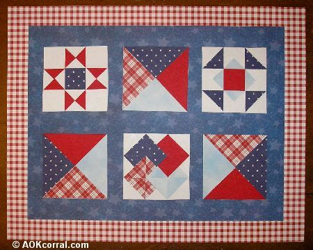 Quilted Place Mat Patterns – FREE Quilt Patterns