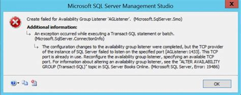 SQL SERVER - AlwaysOn Availability Group Listener – This