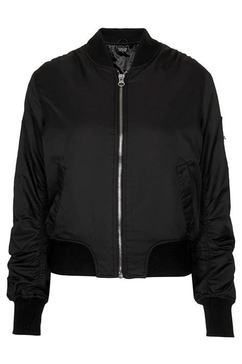 Topshop Ultimate MA1 Bomber Jacket in Black | Lyst