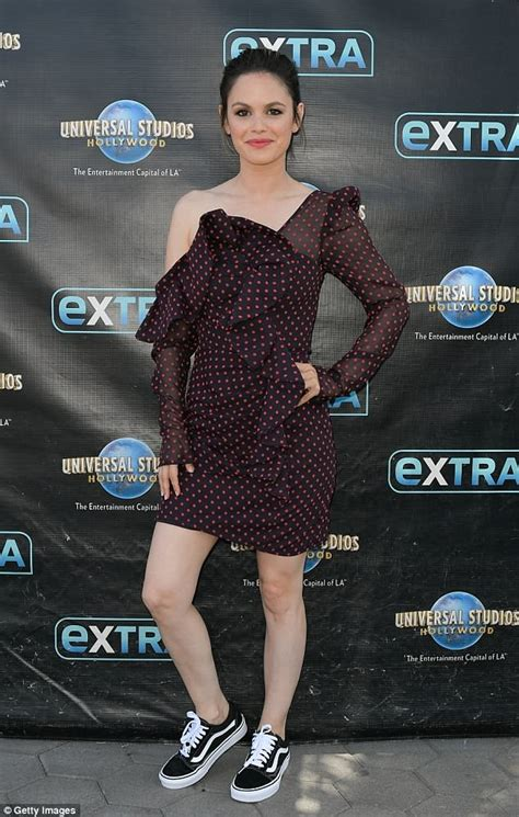 Rachel Bilson rocks cute cranberry frock and trainers for