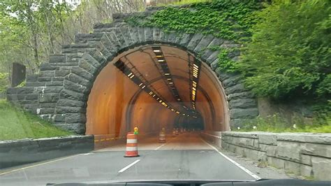 Driving through a Tunnel under The Great Smoky Mountains