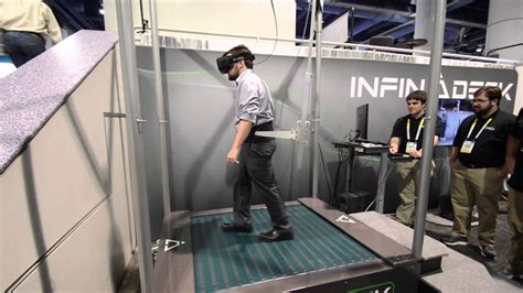 Hands on With the Latest Infinadeck Treadmill at CES 2016