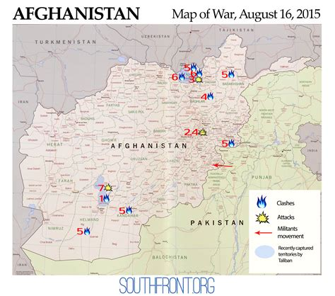 Afghanistan Map of War, August 16, 2015: Taliban's