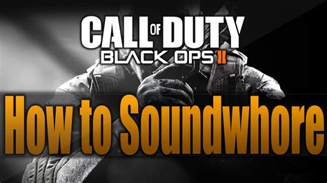 How to Hear Enemy Footsteps in Black Ops 2! Soundwhore in
